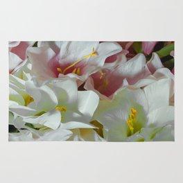 Pastel lilies Rug
