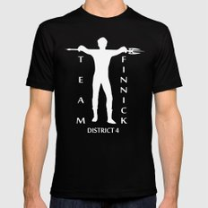 Team Finnick (Dark) SMALL Black Mens Fitted Tee