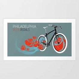 Philadelphia Rose Pedals Art Print