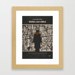 No914 My Mona Lisa Smile minimal movie poster Framed Art Print