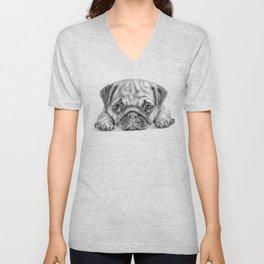 pug dog - carlino - carlin - doguillo Unisex V-Neck