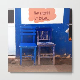 the world is blue Metal Print