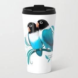 Blue Masked Lovebirds Travel Mug