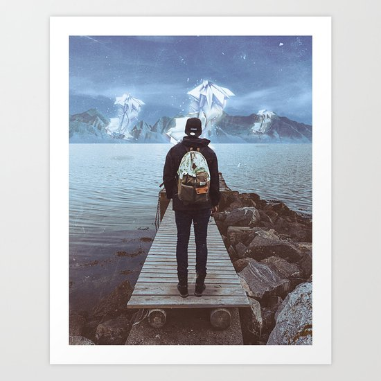 apparition at the pier Art Print