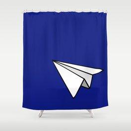 Paper Plane Shower Curtain