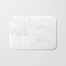 Abstract Map of UC Berkeley Campus Bath Mat