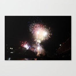 fireworks fourth of july Canvas Print