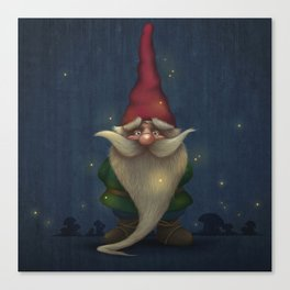 Old Christmas Gnome Canvas Print