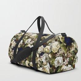 winter flowers seamless pattern 01 small Duffle Bag