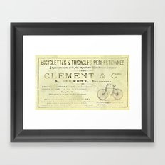 Bicyclette Framed Art Print