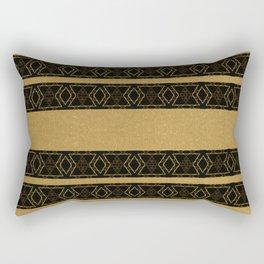 Gold Aztec Inspired Stripe Pattern Rectangular Pillow