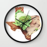texas Wall Clocks featuring Texas by Kyle Fewell