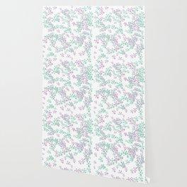 Mint and lavender color splash Wallpaper