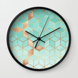 Soft Gradient Aquamarine Wall Clock