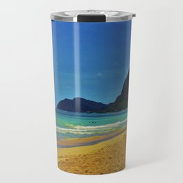 Waimanalo Beach - Hawaii Travel Mug