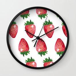 Dancing Strawberries Wall Clock