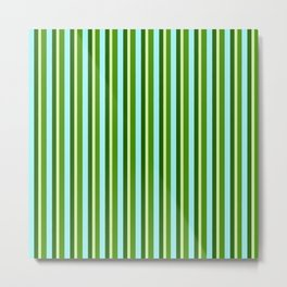 zakiaz green stripe Metal Print