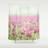 tulip Shower Curtains featuring Tulip by Pure Nature Photos