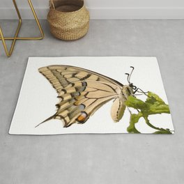 Swallowtail Butterfly Vector Isolated Rug