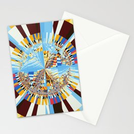 Midday sun on a mountain top Stationery Cards