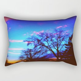 Colorful Sky (vintage) Rectangular Pillow