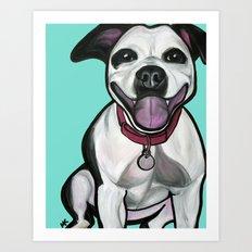 Dolce the Pitbull Art Print