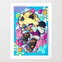 barachan Art Prints featuring dive by barachan