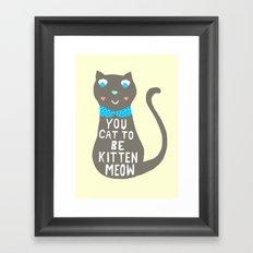 Witty Cat Framed Art Print