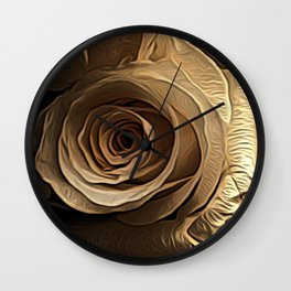 Lovely Rose by David Brier Wall Clock