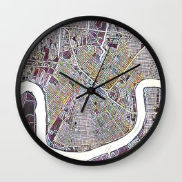 New Orleans Color Variation 1 Wall Clock