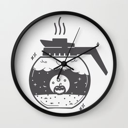 Halloween in a coffee maker!! Wall Clock