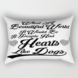 Heart Like Dogs Rectangular Pillow