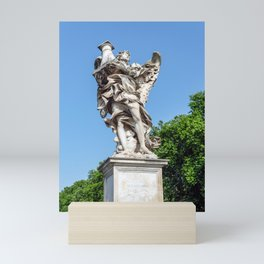 Angel with the Column at the Sant'Angelo bridge - Rome, Italy Mini Art Print