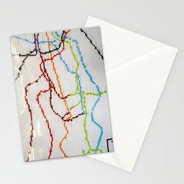 London Lego Underground Map Stationery Cards