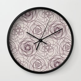 Simple Repeating Floral Pattern Wall Clock