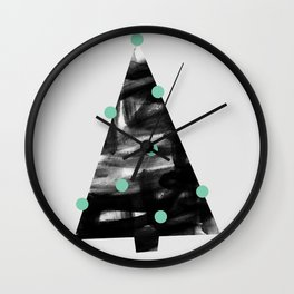 Christmas Tree 1 Wall Clock