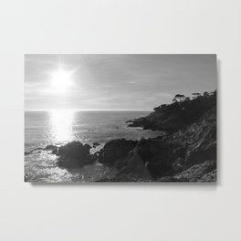 Sunset over Ocean Metal Print