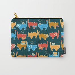 Geek Chic Cats {Nerds, Cameras, Computers, Bow Ties & Glasses} Carry-All Pouch