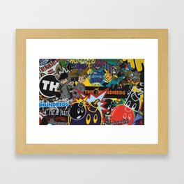 art colour new bomb fun funny cartoon swag character love hot 2018 merry letters Framed Art Print