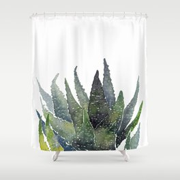 Zebra succulent Shower Curtain