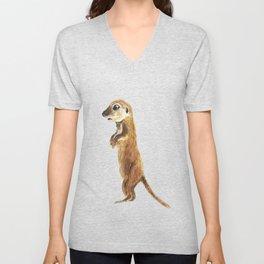 cute little otter Unisex V-Neck