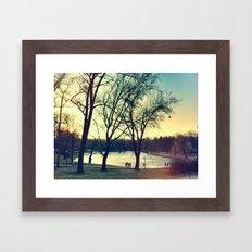 Observing Framed Art Print