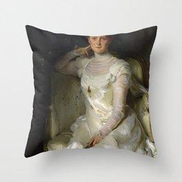 "John Singer Sargent ""Mrs. Joshua Montgomery Sears (Sarah Choate Sears) "" Throw Pillow"