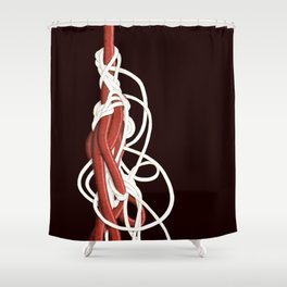 Tangles 1 Shower Curtain