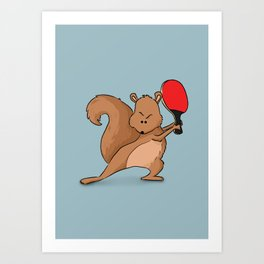 Talented Squirrel Art Print