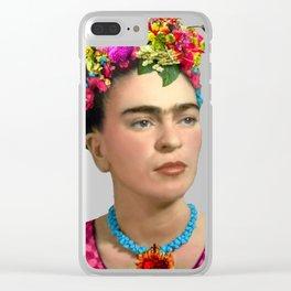 FRIDA KAHLO Y FLORES Clear iPhone Case