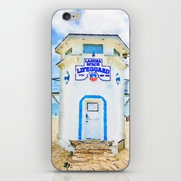 Laguna Beach Lifeguard Stand iPhone Skin