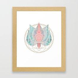 Yoga Lotus Framed Art Print