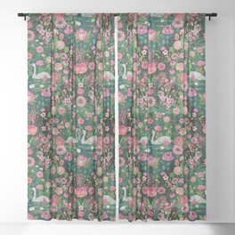 Rose Colored Evening Sheer Curtain