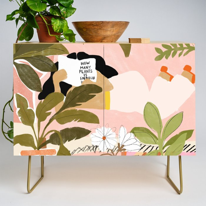 How Many Plants Is Enough Plants? Credenza